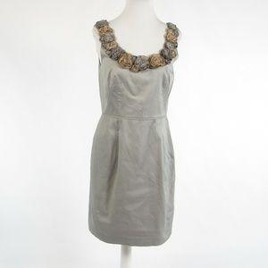 Baraschi gray cotton sheath dress 10